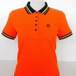 เสื้อโปโลนาโนสีส้ม(ปกเขียว)
