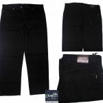 """40-60""""กางเกงขายาว ผู้ชายอ้วน BIG sizes #2745 Super-Black"""
