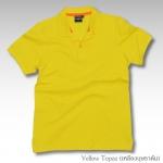Basic Polo สีเหลืองบุษราคัม M-2XL ผ้าจุติ