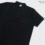 Basic Polo สีดำ 2 3 4 5XL ผ้าจุติ มีกระเป๋าหน้า