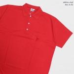 Basic Polo สีแดง 2 3 4 5XL ผ้าจุติ มีกระเป๋าหน้า