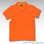Basic Polo สีส้มซองเจีย M-2XL ผ้าจุติ