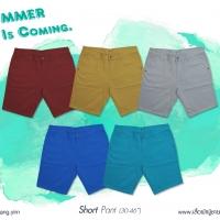 กางเกงผ้าขาสั้น สีพื้น สำหรับ ผู้ชายอ้วน