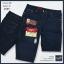 """38""""-50"""" กางเกงยีนส์ขาสั้น สีมิทไนท์ ริมแดง ผ้าไม่ยืด รหัส 989 thumbnail 1"""