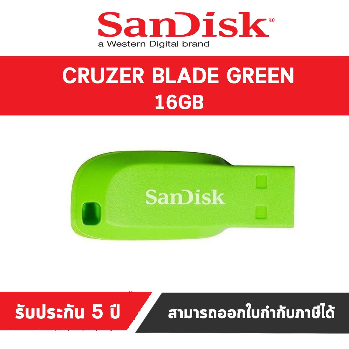 Lot of 2 SanDisk BRAND NEW Black//Green Cruzer 16GB USB 2.0 Flash Drive